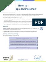 1 Develop a Business Plan