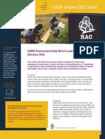 USDA Rural Development's Section 502 Direct Program