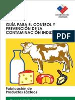Control y Prevencion de La Contaminacion Industrial en Fabricacion de Productos Lacteos