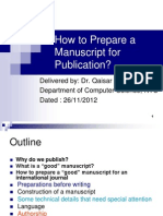 Meeting-How to Prepare a Manuscript