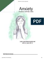 Anxiety - Self-Help Guide