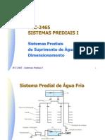 USP-Poli-Civil-PCC2465 - Sistemas prediais de Suprimento de Água Fria - Dimensionamento