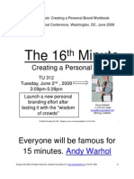 The 16th Minute Workbook