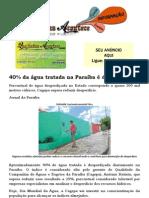 40% da água tratada na Paraíba é desperdiçada