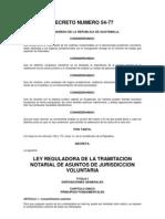 Decreto54 77 Tramitacion Jurisdiccional Voluntaria Guatemala