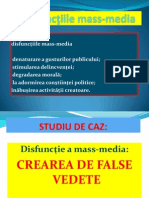 Disfunctii Ale Mass Media