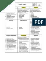 PGS-05-02 Lista de Peligros