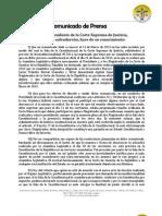 Comunicado Final Ccr210313