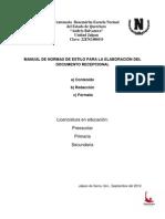 Normas de Estilo 2012-2013.