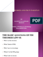FDI THEORIES AND FOREIGN DIRECT INVESTMENTS  IN PAKISTAN