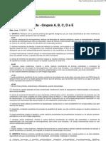 Resíduos de Saúde - Grupos A, B, C, D e E