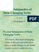 Pres Subj_stem Changing Verbs