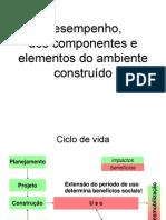 AUT190 - Desempenho dos componentes e elementos do ambiente construído
