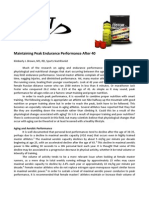 Maintaining Peak Endurance Performance After 40