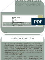 Formado de Materiales Ceramicos y Polimeros