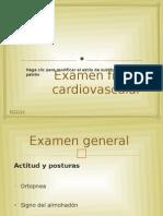 Propedeutica  Examen Cardiovascular