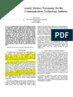 060 Towards a Security Metrics Taxonomy