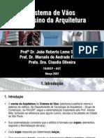 AUT190 - Sistema de vãos no ensino da Arquitetura