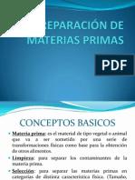 PREPARACIÓN DE MATERIAS PRIMAS