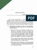 Que Es El Mito - Rodolfo Sanchez