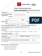 O'Hare Terminal 5 General Interest Form