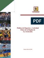 Politica de Deportes Aprobada Por Del Consejo Regional