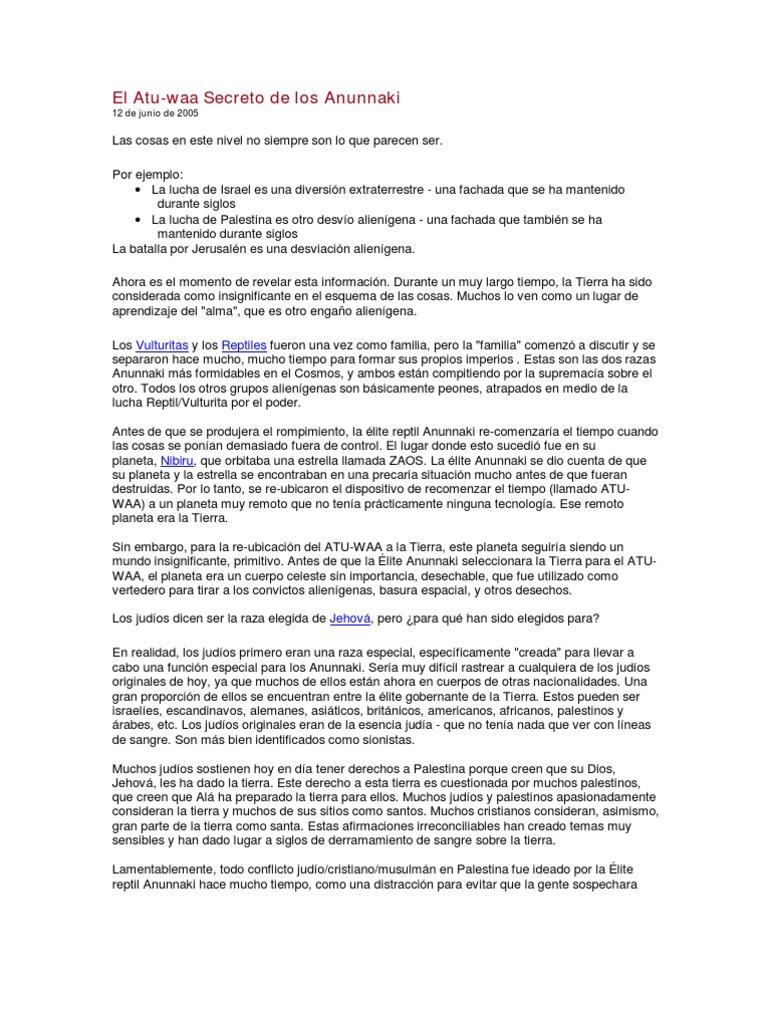 El Atu-Waa Dispositivo Anunnaki Para Reiniciar El Tiempo Vol.1
