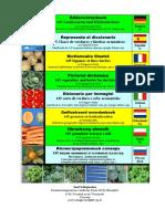 Dizionario Visuale Multilingue Verdure Ed Erbe