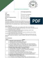 CE 41-Engineering Hydrology Syllabus