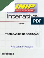 TECNICAS DE  NGOCIAÇÃO I
