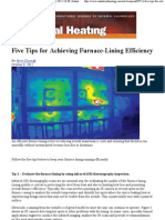 Tips for Achieving Furnace-Lining Efficiency