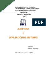 AUDITORIA  Y EVALUACIÓN DE SISTEMAS.docx