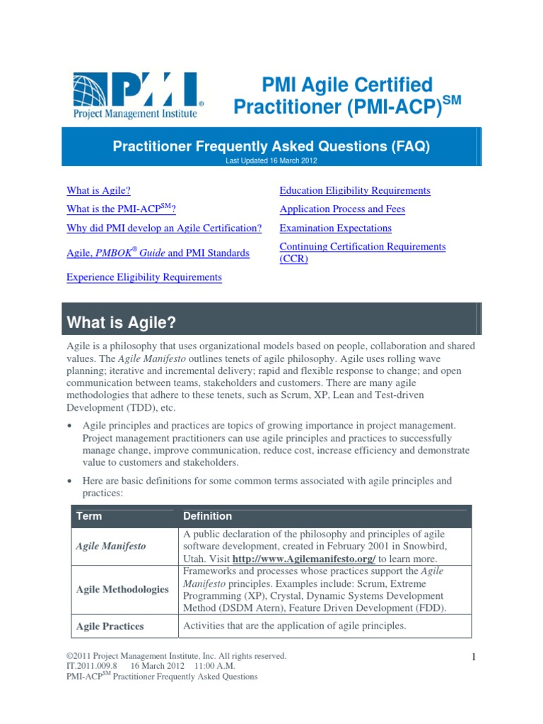 Pmi acp practitioner agile software development project management 1betcityfo Images