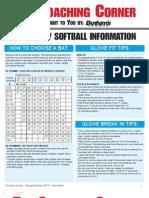 2013 Coaching Corner Baseball/Softball
