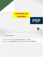 A-Historia de Usuario y Formato