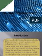 trigate (3D) transistor presentation