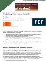 Optimizing Combustion Controls