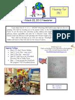 Newsletter March 22 2013