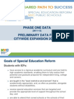 Data on Special Education Reform, Phase One
