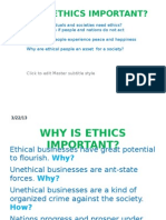 Why is Ethics Important