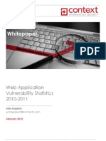 Context-Web Application Vulnerability Statistics 2010-11-Whitepaper