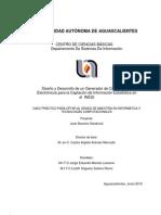 Desarrollo de un Generador de Cuestionarios Electrónicos para la Captación de Información Estadística en el  INEGI
