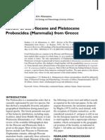Palaeolithic Proboscidea