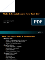 Retaining Walls and Foundations in New York City