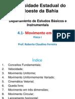 4 - Cinemática - Física_I - 2012