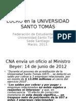 LUCRO en la UNIVERSIDAD SANTO TOMÁS