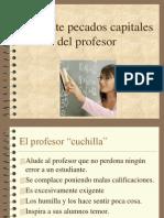 Los Siete Pecados Capitales Del Profesor