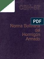 Norma Boliviana del Hormigón Armado 1987