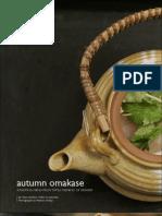 Autumn Omakase Japanese Recipes