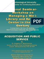 Acquisition and Public Service (Part 1)